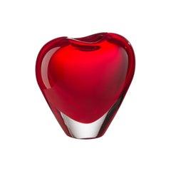 Salviati Cuore Cuoricino Vase in Red by Maria Christina Hamel