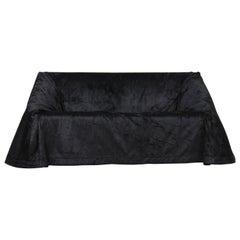 Paradiso Terrestre Mantilla Sofa 160 in Black Velvet by Kazuhide Takahama