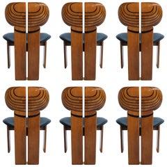 Six Africa Chairs by Afra & Tobia Scarpa, for Maxalto, Artona Serie