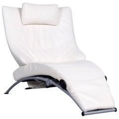 WK Wohnen Solo 699 Designer Leather Chair White One-Seat
