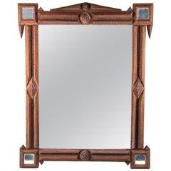 Tramp Art Mirror, Austria, circa 1880