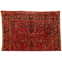 Antique Persian Sarough Rug, 19th Century