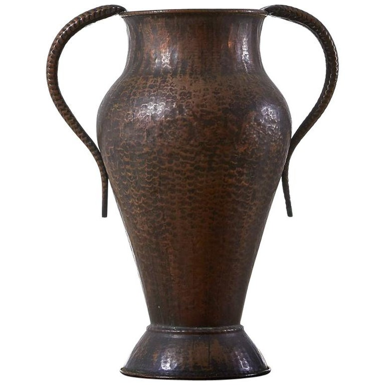 1960s Decorative Copper Vase
