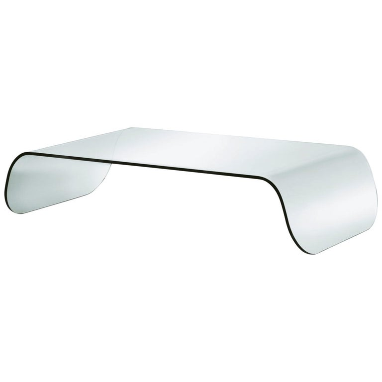 Pacini & Cappellini Zen Coffee Table in Curved Glass