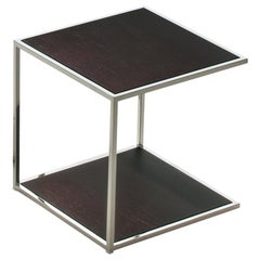 Pacini & Cappellini One Serving Table in Dark Brown Lacquered Glass