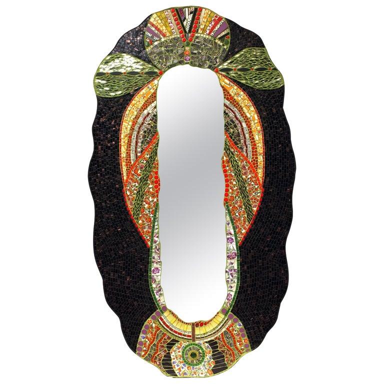 Unique Mosaic Art Deco Style Mirror, France
