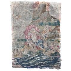 Antique 18th Century French Needlepoint Mythological Scene