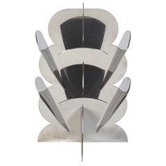 Paradisoterrestre Fiori Futuristi Dianto 28 in Mirror Steel by Giacomo Balla
