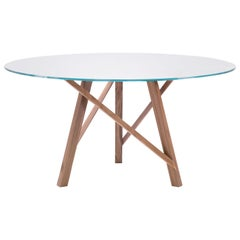 Pacini & Cappellini Zeus Table in Glass by Giuliano & Gabriele Cappellettii