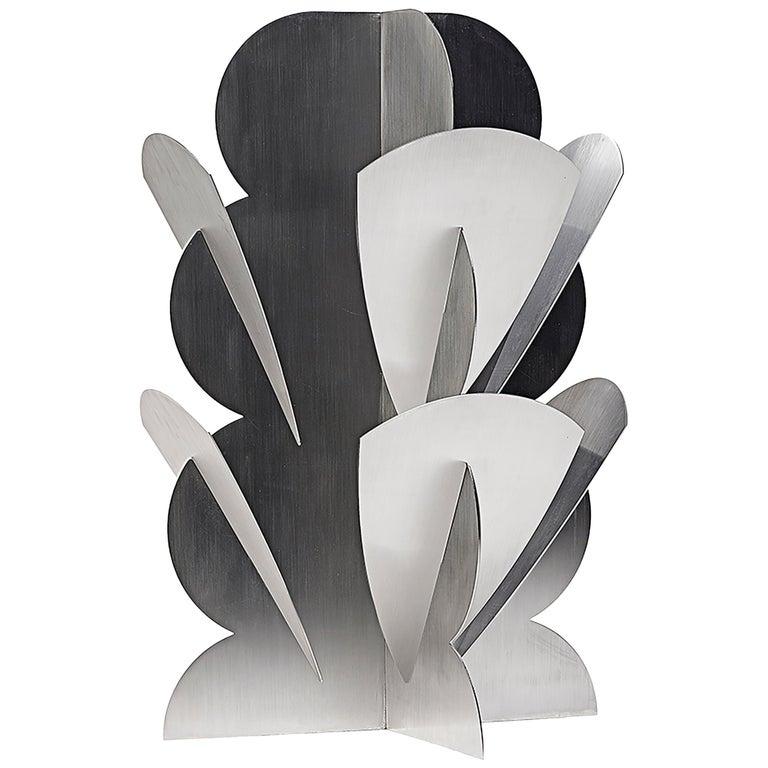 Paradisoterrestre Fiori Futuristi Dianto 120 in Mirror Steel by Giacomo Balla For Sale