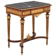 Neoclassical Style Gilt Bronze-Mounted Side Table by Henri Picard