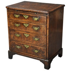 Extremely Rare Early 18th Century Walnut Chest of Drawers in Untouched Condition