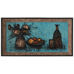 Charming Still Life Painting In The Style Of Bernard Buffet