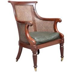 Early 19th Century Mahogany Bergere Armchair