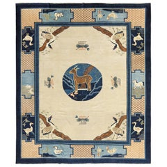 Animal Motif Antique Chinese Rug