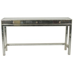 Mirrored Modern Console Table By John Richard