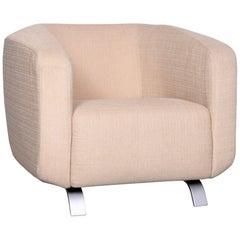Rolf Benz Designer Fabric Armchair Beige One-Seat