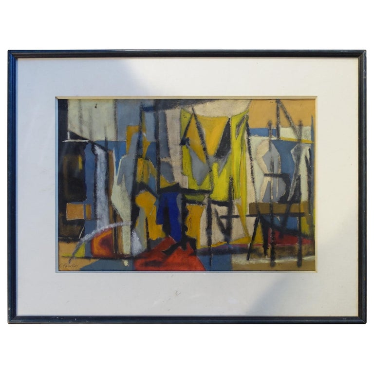 French Abstract Painting, Midcentury For Sale