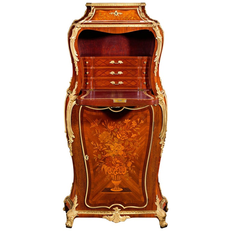 Louis XV Style French Secrétaire by Henry Dasson