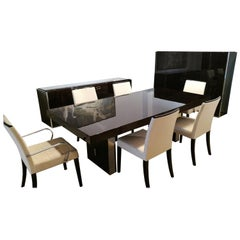 Complete Dining Room With Table, Chairs, Highboard And Sideboard