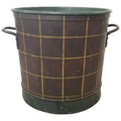 Hand-Painted English Bucket for Logs or Plants