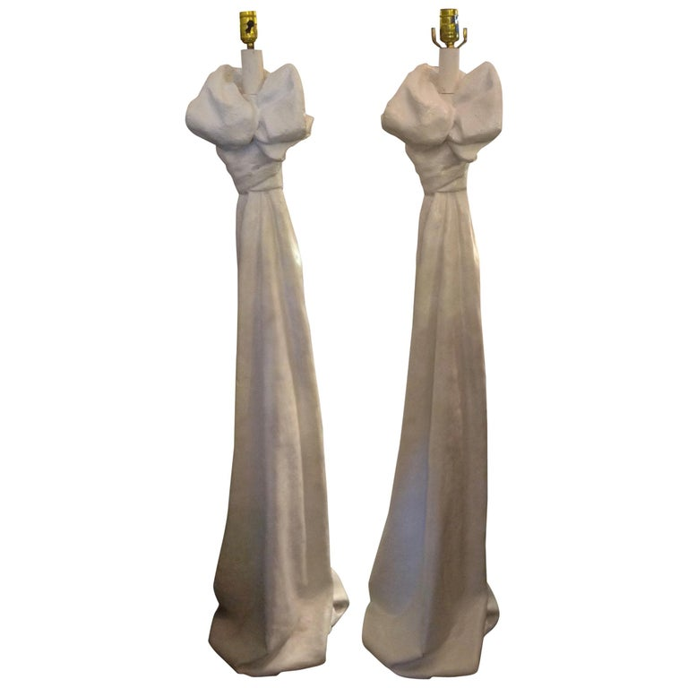 Pair of John Dickinson Style Floor Lamps For Sale