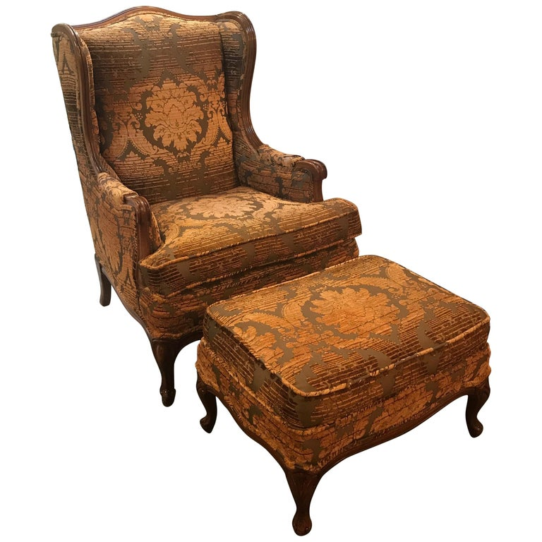 Italian French Provincial Images On: French Provincial Chair And Ottoman In Italian Chenille