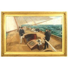"""""""On the Britannia"""" Oil Painting by Tom Henry"""