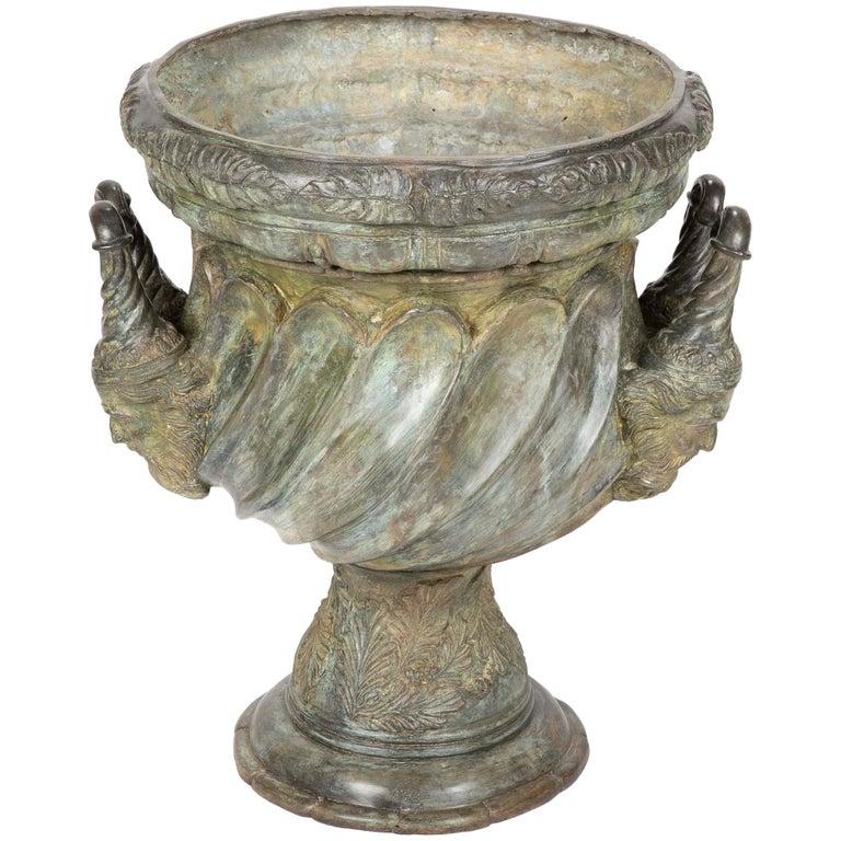 Large Bronze Garden Urn after a Model at Versailles