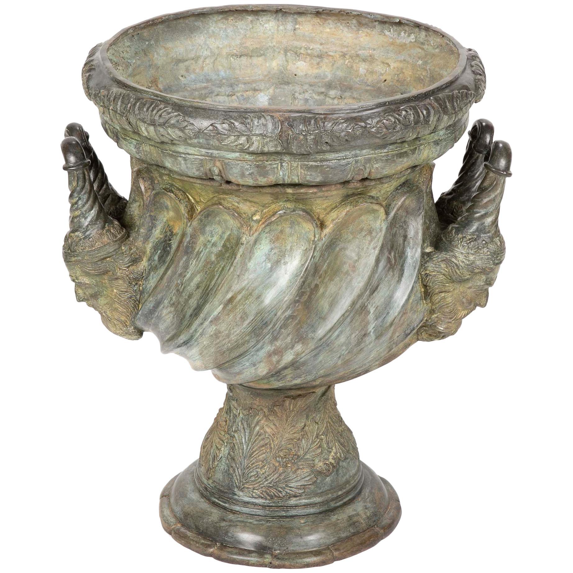 Large Bronze Garden Urn After A Model At Versailles For Sale