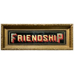 Lodge Sign Friendship American, 19th Century