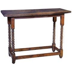Walnut Table, Spain, 17th Century