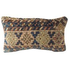 CLOSE OUT SALE: Vintage Bidjar Rug Fragment Decorative Lumbar Pillow