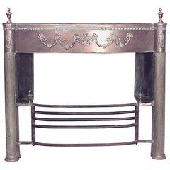 English Adam Style '19th Century' Brass Fireplace Mantel