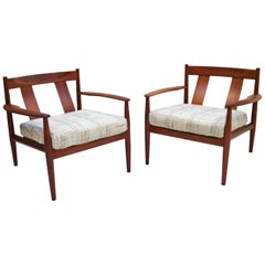 Pair of Grete Jalk Teak Lounge Chairs for France & Søn