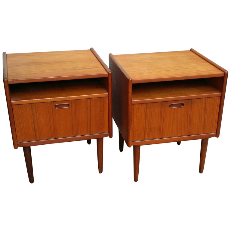 Pair of Nightstands Svend Madsen Falster, Denmark