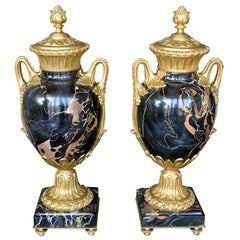 Late 19th Century Marble and Bronze Vases