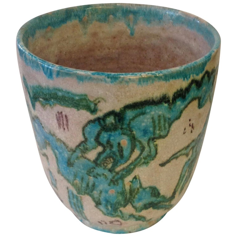 Guido Gambone Art Pottery Vase For Sale