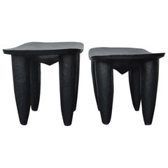 Set of Two african Midcentury Wooden Side Tables