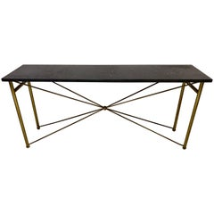 Italian Brass and Marble Console