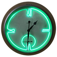 Postmodern Monumental Howard Miller Neon Wall Clock