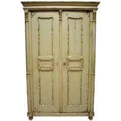 Pine Painted Two-Door Armoire