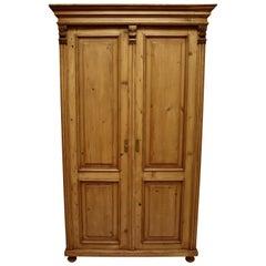 Pine Two-Door Armoire