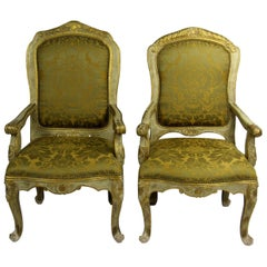 20th Century Louis XV Style Armchairs