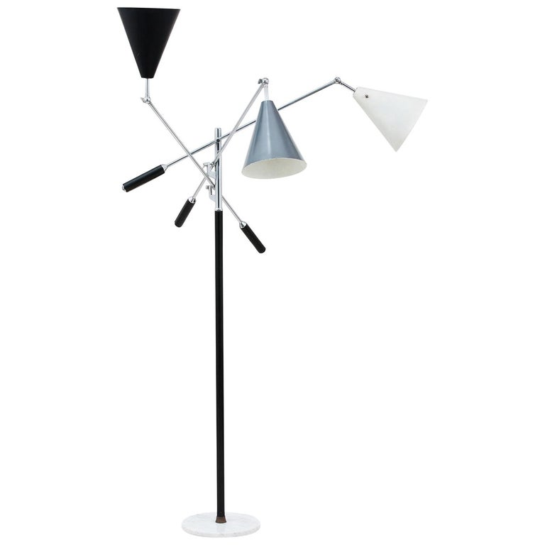 Arredoluce Three-Arm Floor Lamp