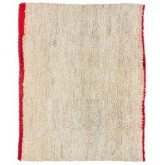 Vintage Tibetan Nomadic Rug with Lamb's Wool