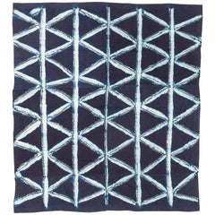 Vintage African Indigo Dye Yoruba Textile Wall Hanging