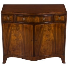 Serpentine Front Mahogany Buffet Cabinet
