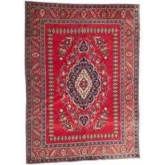 Nice Vintage Persian 20th Century Tabriz Rug Antique Rugs Persia Old Carpets