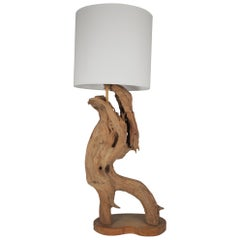 Midcentury Driftwood Table Lamp
